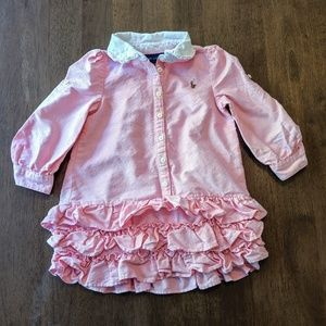 Ralph Lauren Pink Dress Ruffles & Bloomers | 18M